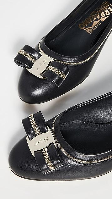 Salvatore Ferragamo Vara Lux 1 浅口鞋