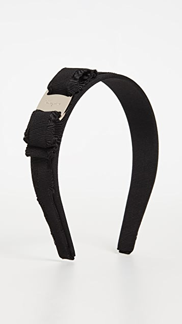 Salvatore Ferragamo Ribbed Bow Headband