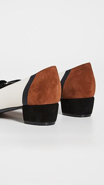 Salvatore Ferragamo Vara 拼接低跟浅口鞋