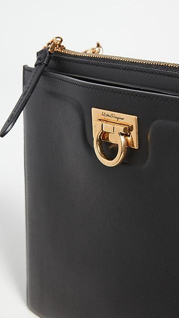 Salvatore Ferragamo Gancio Square Crossbody Bag
