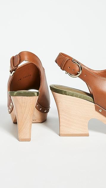 Salvatore Ferragamo Susanne 露趾木底鞋