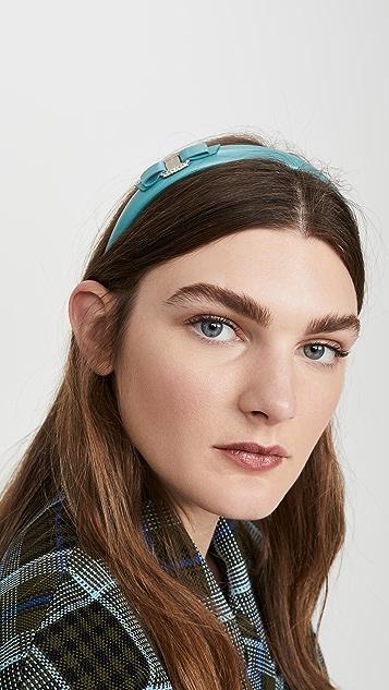 Salvatore Ferragamo Crystal Bow Headband