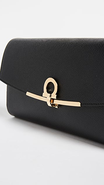 Salvatore Ferragamo Gancino Clip Mini Shoulder Bag
