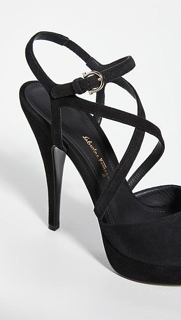Salvatore Ferragamo Acate Platform Sandals