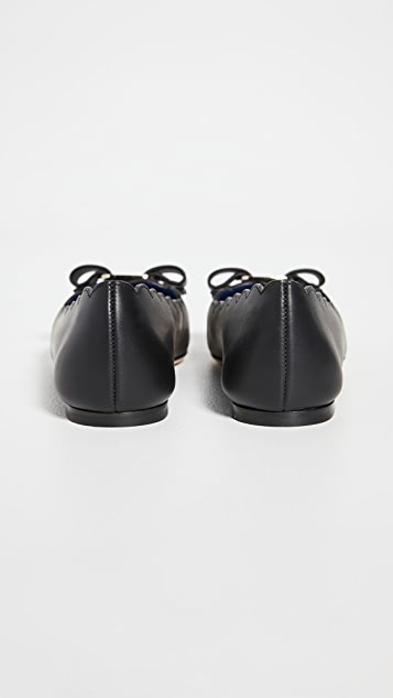 Salvatore Ferragamo Varina Shell Ballet Flats