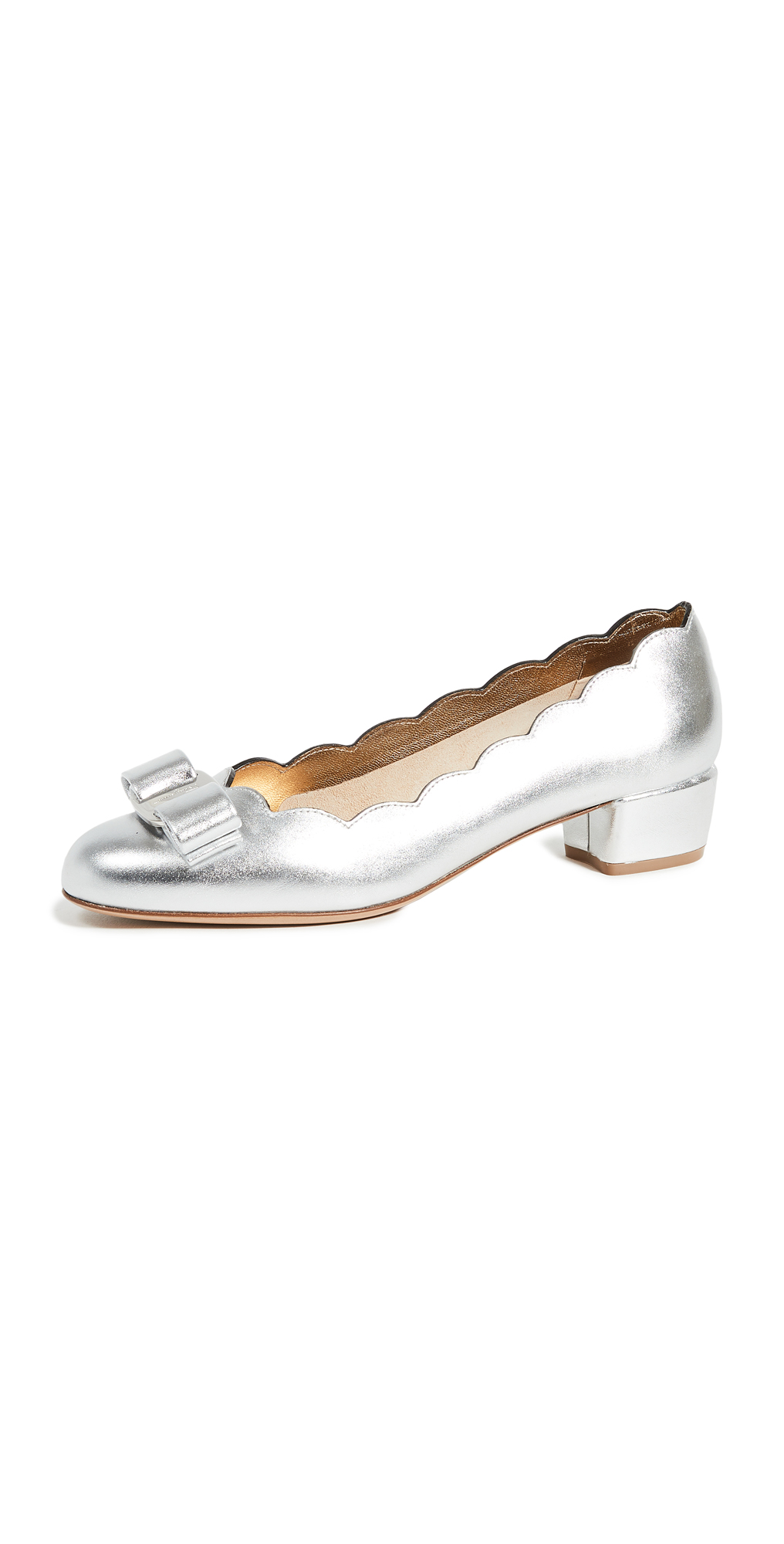 Salvatore Ferragamo Vara Shell Pumps