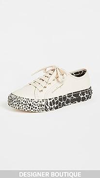 페라가모 Salvatore Ferragamo Borg Cubic Sneakers,Bone/White