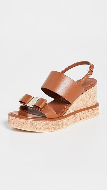 Salvatore Ferragamo Giudith Wedge Sandals