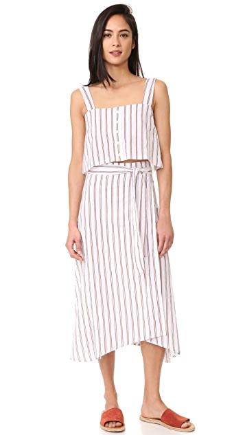 FAITHFULL THE BRAND Caribe Wrap Skirt