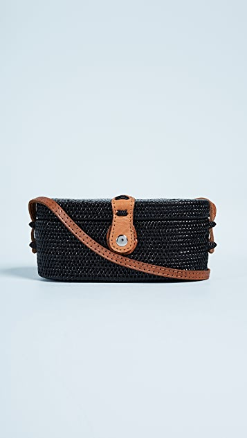 FAITHFULL THE BRAND Camila Cross Body Box Bag - Black