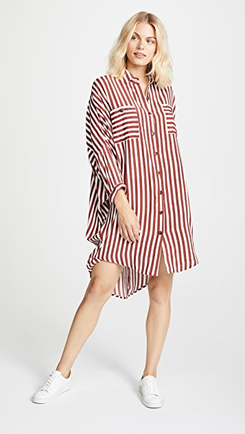 FAITHFULL THE BRAND Spencer Shirt Dress