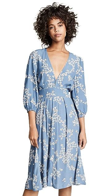 FAITHFULL THE BRAND Chloe Midi Dress