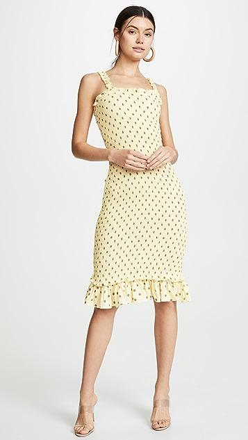 FAITHFULL THE BRAND Nadine Midi Dress