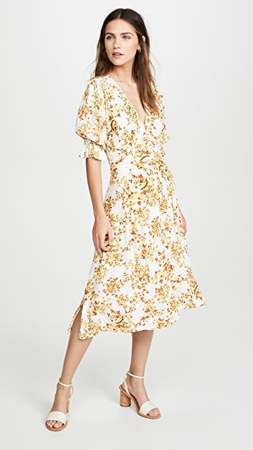 FAITHFULL THE BRAND Rafa Midi Dress