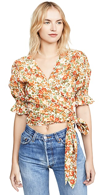 FAITHFULL THE BRAND Mali Wrap Top