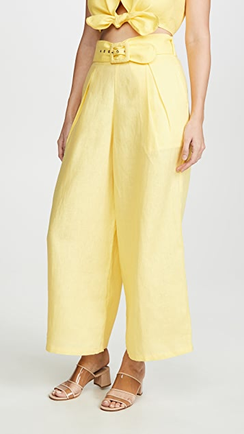 FAITHFULL THE BRAND Lena Wide Leg Pants
