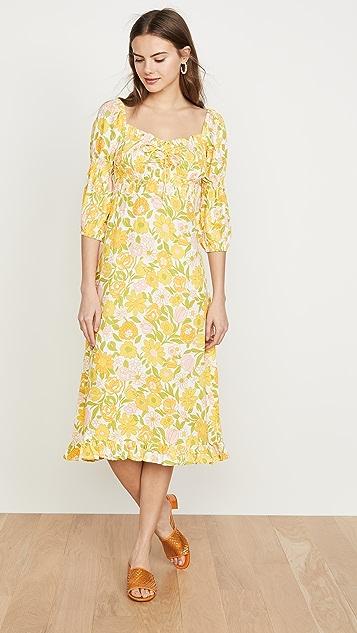 FAITHFULL THE BRAND Миди-платье Nora