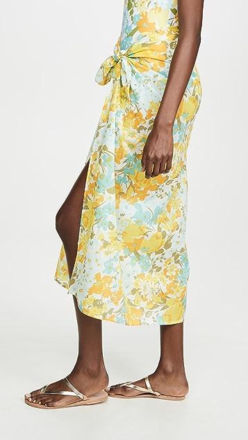 FAITHFULL THE BRAND 花卉印花包布裙