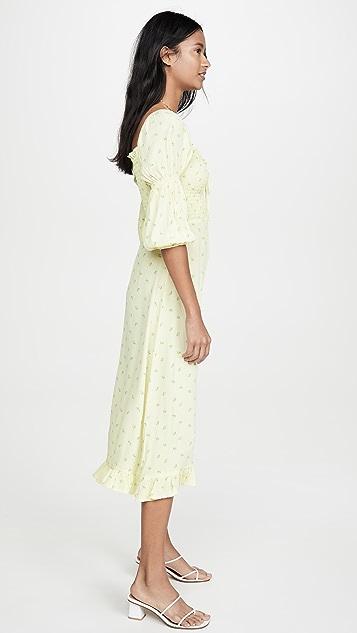 FAITHFULL THE BRAND Nora Midi Dress