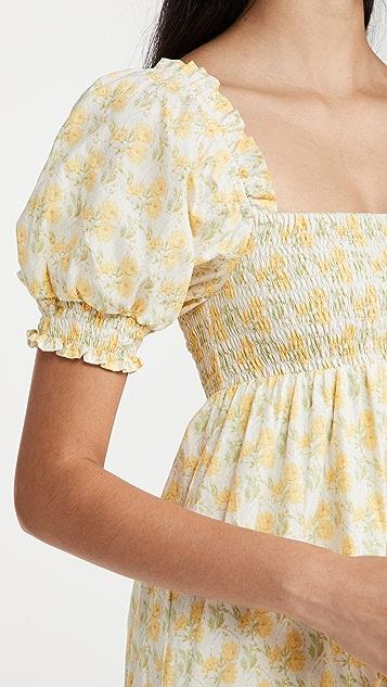 FAITHFULL THE BRAND Luisa 中长连衣裙