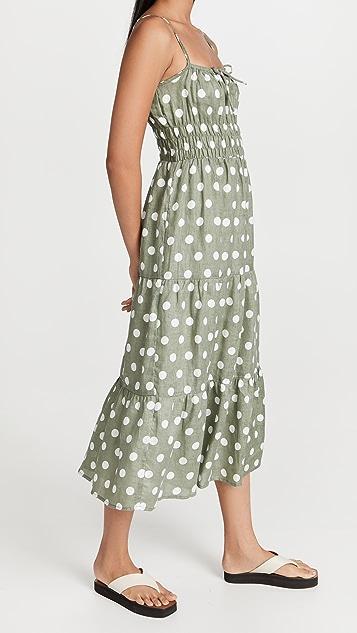 FAITHFULL THE BRAND Shaloom Midi Dress
