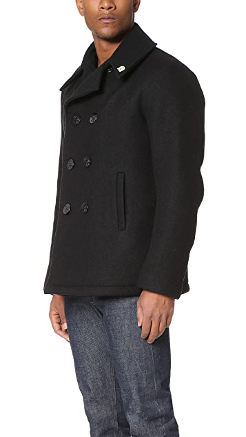 Gerald & Stewart by Fidelity Wool Quilt Lined Pea Coat