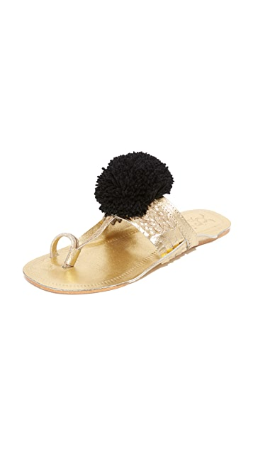 Online Cheap Online Cheap Price Factory Outlet Leo pom pom sandals - Metallic Figue Discount Shop Offer Fashion Style Sale Low Shipping Fee l0m4b