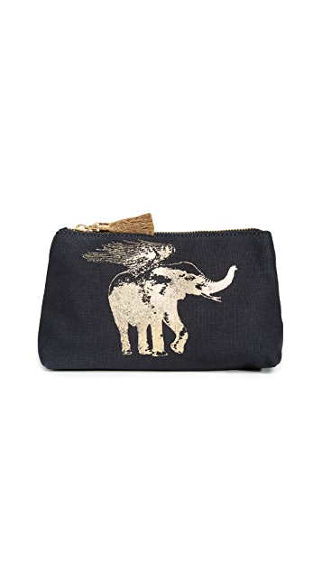 Figue Flying Elephant Cosmetic Pouch