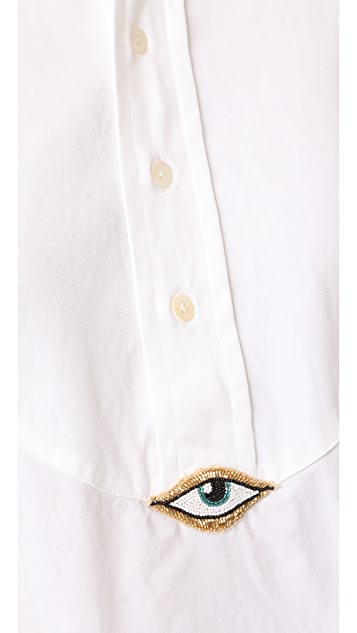 Figue Evil Eye Tux Shirt