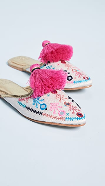 Figue Johanna Embroidered Flats