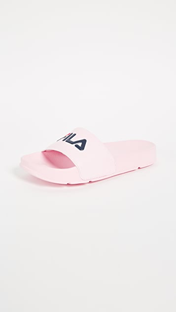 Fila Drifter Slides - Blushing Bride/Navy/Fila Red