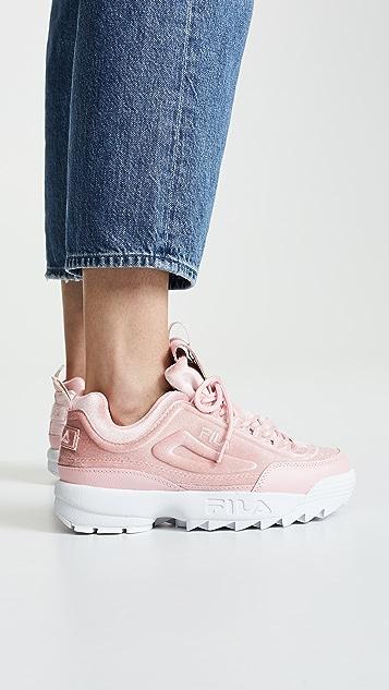 Fila Disruptor Ii Premium Velour Damen Sneaker Schwarz