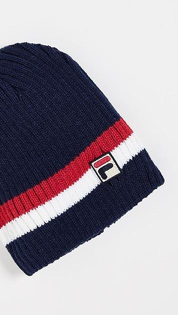 Fila Rib Knit Striped Beanie