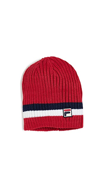 Fila Rib Knit Striped Beanie