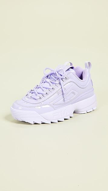 Fila Disruptor II Premium Patent Sneakers - Pastel Lilac/Pastel Lilac