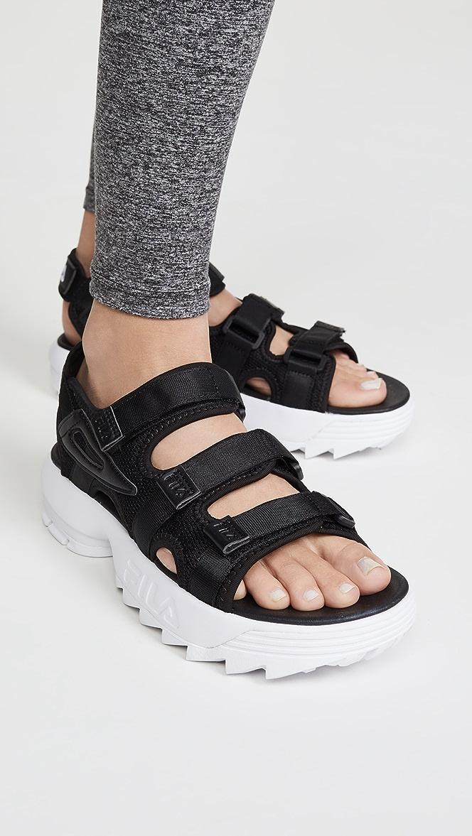 fila's disruptor sandals