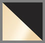 Black/White/Metallic Gold