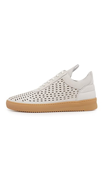 Filling Pieces Circular Stitch Low Top Sneakers