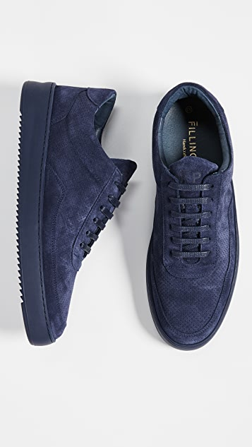 Filling Pieces Low Mondo Ripple Suede Perforated Sneakers