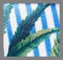 Light Blue Floral Stripe
