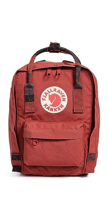 Fjallraven Kanken Mini Backpack - Deep Red/Random Blocked