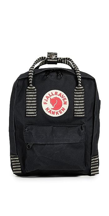 Fjallraven Kanken Mini Backpack - Black/Striped
