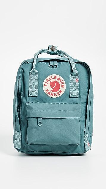 Fjallraven Kanken Mini Backpack - Forest Green/Chess Pattern