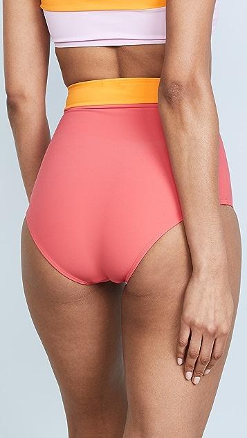 Flagpole Arden High Waist Bikini Bottoms