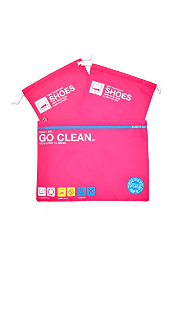 Flight 001 Go Clean Bag Set