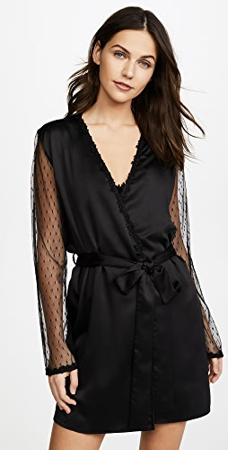 Flora Nikrooz - Showstopper Charmeuse Robe With Lace