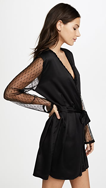 Flora Nikrooz Charmeuse Robe with Lace