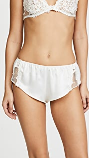 Flora Nikrooz Charmeuse Boy Shorts with Lace