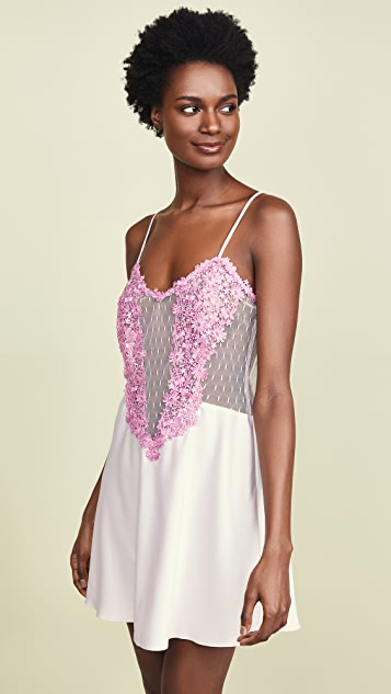 Flora Nikrooz Showstopper Charmeuse Chemise with Lace