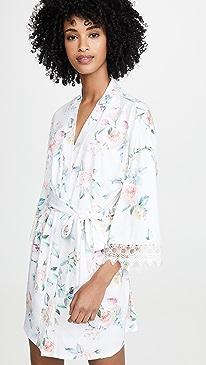 Pia Printed Knit Robe